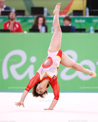 Mai Murakami (JPN), <br /> AUGUST 9, 2016 - Artistic Gymnastics : <br /> Women's Final <br /> Floor Exercise <br /> at Rio Olympic Arena <br /> during the Rio 2016 Olympic Games in Rio de Janeiro, Brazil. <br /> (Photo by Sho Tamura/AFLO SPORT)