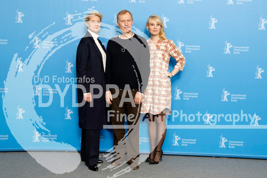 Trine Dyrholm, Ulrich Thomsen and Helene Reingaard Neumann during the 'Kollektivet / The Commune / Die Kommune' photocall at the 66th Berlin International Film Festival / Berlinale 2016 on February 17, 2016 in Berlin, Germany.