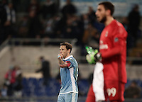 Calcio, Serie A: Lazio, Stadio Olimpico, 13 febbraio 2017.<br /> Lazio's Lucas Biglia celebrates after scoring during the Italian Serie A football match between Lazio and Milan at Roma's Olympic Stadium, on February 13, 2017.<br /> UPDATE IMAGES PRESS/Isabella Bonotto