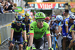 Rigoberto Uran (COL) Cannondale Drapac crosses the finish of Stage 3 of the 104th edition of the Tour de France 2017, running 212.5km from Verviers, Belgium to Longwy, France. 3rd July 2017.<br /> Picture: Eoin Clarke | Cyclefile<br /> <br /> All photos usage must carry mandatory copyright credit (&copy; Cyclefile | Eoin Clarke)