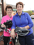 Mavis Kelly and Colette McKenny who took part in the Ardee Cycle club 50Km cycle. Photo: Colin Bell/pressphotos.ie