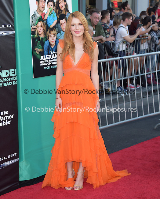 Bella Thorne attends The Disney World Premiere of Alexander and the Terrible,Horrible,No Good, Very Bad held at The El Capitan  in Hollywood, California on October 06,2014                                                                               © 2014 Hollywood Press Agency