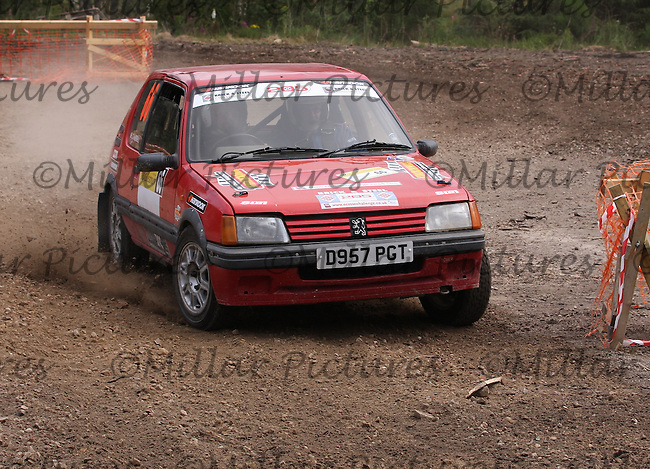 Hamish Campbell / Peter Weall near Junction 1 on Special Stage 8 of the Gleaner Oil & Gas Speyside Stages Rally 2012, Round 6 of the RAC MSA Scottish Rally Championship which was organised by The 63 Car Club (Elgin) Ltd and based in Elgin on 4.8.12...........