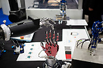 Pictures shows close up of an high precision hand for industry arm robot an robot exhibition Robodex in Tokyo on January 17, 2019. Some 220 robot companies display their recent products and technlogies at a three-day exhibition. January 17, 2019 (Photo by Nicolas Datiche/AFLO) (JAPAN)