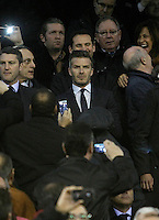 Paris Saint-Germain's David Beckham during Champions League 2012/2013