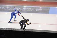 SPEEDSKATING: SALT LAKE CITY: 08-12-2017, Utah Olympic Oval, ISU World Cup, 500m Ladies A-Division, Sang-Hwa Lee (KOR), Nao Kodaira (JPN), ©photo Martin de Jong