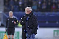 VOETBAL: HEERENVEEN: Abe Lenstra Stadion 29-10-2015, SC Heerenveen, SC Heerenveen - Helmond Sport, uitslag 1-0, Henk Veerman scoorde en kreeg aan het einde van de wedstrijd een rode kaart, trainer/coach Foppe de Haan, ©foto Martin de Jong