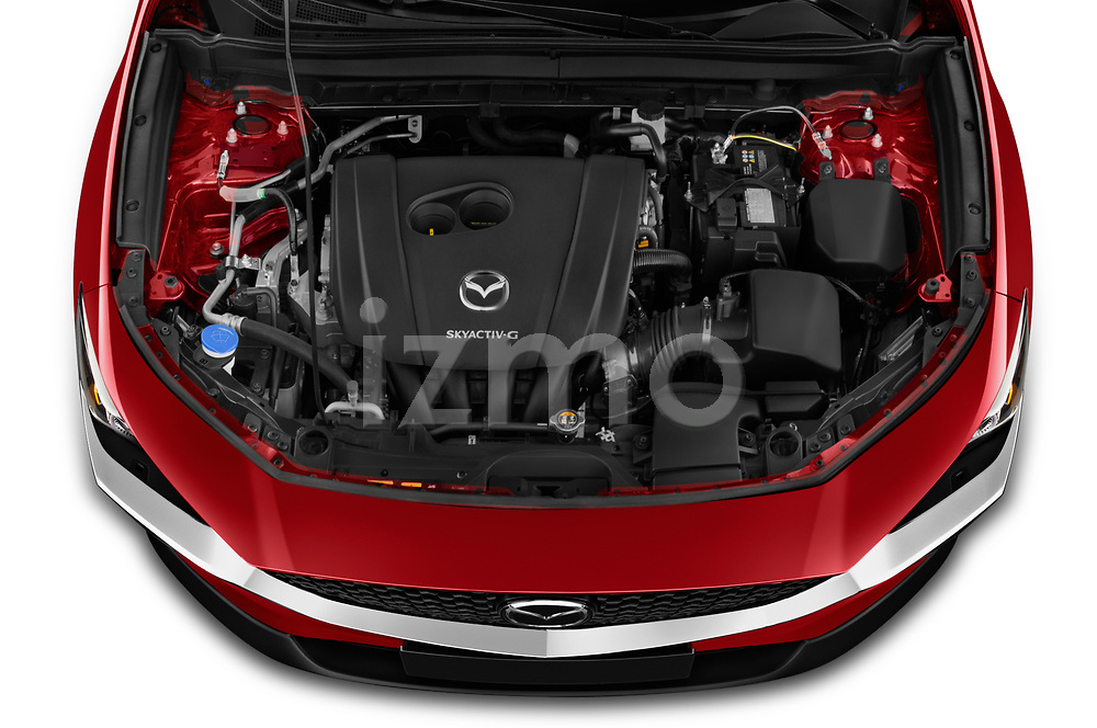 Car Stock 2020 Mazda CX-30 Select 5 Door SUV Engine  high angle detail view