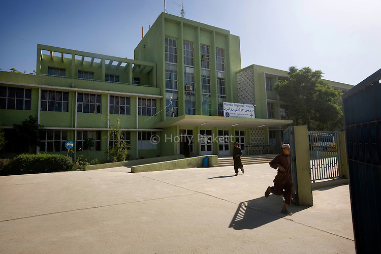 Despite worsening security, development continues at Mirwais Hosptial in the city of Kandahar, Afghanistan, where the International Committe of the Red Cross conducts training and assists the local staff, April 23, 2009. Mirwais is the main public hosptial serving five southern provinces. As security has deteriorated in the South, many international NGO's have pulled their staff from the area or shut down the regional office, stunting development in a region where it is badly needed.