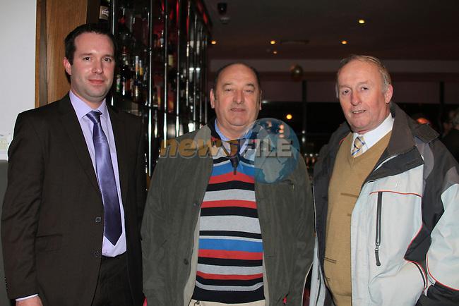 Ronan Foley, Matty Donnelly and Barry Gardner. NIall Quinn speaking to the directors of Drogheda United and members of the Business Community in Drogheda..Photo: Fran Caffrey/www.newsfile.ie...