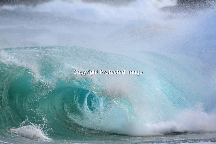 The weather service issued a high-surf advisory for Sandy Beach with south-facing shores of all islands waves that reached 6 to 10 feet as many enjoyed the ocean break in Honolulu, HI.