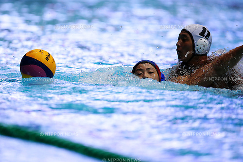 General view, <br /> OCTOBER 10, 2015 - Water Polo : <br /> The 91th All Japan Water Polo Championship, <br /> Men's Semi-Final <br /> between Kenshidai Club 7-10 Bourbon Water Polo Club Kashiwazaki <br /> at Tatsumi International Swimming Pool, Tokyo, Japan. <br /> (Photo by AFLO SPORT)