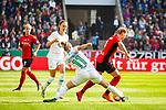 01.05.2019, RheinEnergie Stadion , Köln, GER, 1.FBL, Borussia Dortmund vs FC Schalke 04, DFB REGULATIONS PROHIBIT ANY USE OF PHOTOGRAPHS AS IMAGE SEQUENCES AND/OR QUASI-VIDEO<br /> <br /> im Bild | picture shows:<br /> Alexandra Popp (VfL Wolfsburg #11)  im Duell mit Janina Minge (SC Freiburg Frauen #9), <br /> <br /> Foto © nordphoto / Rauch