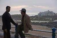 Afrique/Afrique du Nord/Maroc /Casablanca: la Corniche - le Marabout de Sidi Abd Er-Rahman ensemble de tombeaux qui accueille les pélerins