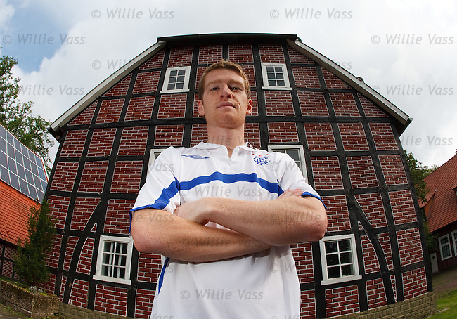 Steven Davis at the team hotel Klosterpforte in Marienfeld, Germany