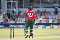 Soumya Sarkar (Bangladesh) can't quite believe he's picked out the fielder and is dismissed during Pakistan vs Bangladesh, ICC World Cup Cricket at Lord's Cricket Ground on 5th July 2019
