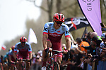 Marcel Kittel (GER) Team Katusha-Alpecin feels the pain in the Trouee d'Arenberg during the 116th edition of Paris-Roubaix 2018. 8th April 2018.<br /> Picture: ASO/Pauline Ballet | Cyclefile<br /> <br /> <br /> All photos usage must carry mandatory copyright credit (&copy; Cyclefile | ASO/Pauline Ballet)