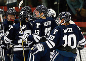 Colin Dueck (Yale - 21), Anthony Day (Yale - 19), Matthew Beattie (Yale - 13), Mitch Witek (Yale - 10) - The Yale University Bulldogs defeated the Harvard University Crimson 5-1 on Saturday, November 3, 2012, at Bright Hockey Center in Boston, Massachusetts.