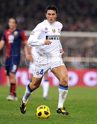 29 10 2010   Series A Season 2010 2011 CFC Genoa versus  Inter Milan. Milan 29 10 2010 Javier Zanetti Inter