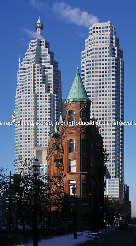 Old Goodergham and Worts Flatiron building in Toronto Ontario Canada