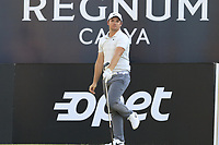 Sam Horsfield (ENG) tees off the 18th tee during Saturday's Round 3 of the 2018 Turkish Airlines Open hosted by Regnum Carya Golf &amp; Spa Resort, Antalya, Turkey. 3rd November 2018.<br /> Picture: Eoin Clarke | Golffile<br /> <br /> <br /> All photos usage must carry mandatory copyright credit (&copy; Golffile | Eoin Clarke)