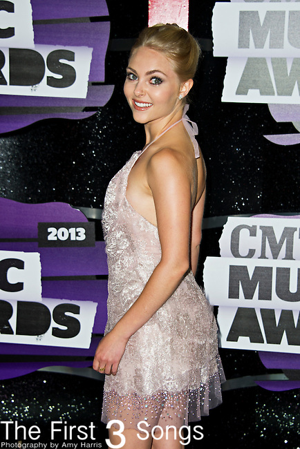 AnnaSophia Robb arrives at the 2013 CMT Music Awards at Bridgestone Arena in Nashville, Tennessee.