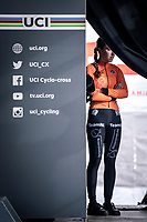 race winner Shirin Van Anrooij (NED) awaiting the podium ceremony of the Women's Junior race<br /> <br /> UCI 2020 Cyclocross World Championships<br /> Dübendorf / Switzerland<br /> <br /> ©kramon