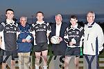ANNOUNCEMENT: Announcing details of the Ardfert Lotto at Ardfert GAA Grounds Ardfert, on Monday evening, L-r: Kevin Shanahan, Joe Wallace, Colin Kirby, Martin Ferris (TD), Fionan Horgan and Brendan Slattery. ..