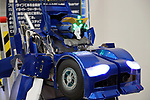 "November 21, 2017, Tokyo, Japan - Japanese robot ventures Asratec and Brave Robotics display the transformable robot ""J-deite Quarter"" which can change its shape of a robot to a vehicle at the ""Softbank Robot World 2017"" in Tokyo on Tuesday, November 21, 2017. Softbank's subsidiary Asratec and Brave Robotics have plan to launch a 4m tall transformable human ride robot ""J-deite RIDE"".     (Photo by Yoshio Tsunoda/AFLO) LWX -ytd-"