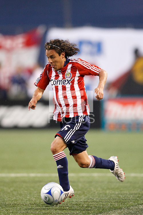 CD Chivas USA midfielder Francisco Mendoza (6). The New York Red Bulls defeated CD Chivas USA 1-0 during a Major League Soccer match at Giants Stadium in East Rutherford, NJ, on June 5, 2008.
