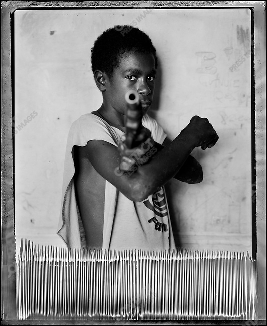 """Mogii,"" Raskols, gangs of Port Moresby, Papua New Guinea, January 2004"
