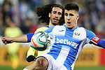 CD Leganes' Unai Bustinza (f) and Getafe CF's Marc Cucurella during La Liga match. January 17,2020. (ALTERPHOTOS/Acero)