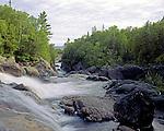 Sand River Falls and Lake Superior, Ontario, Canada, June, 1987