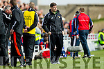Eamonn Fitzmaurice Kerry Manager Kerry in action against  Cork in the National Football league in Austin Stack Park, Tralee on Sunday.