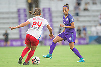 Orlando, FL - Saturday July 01, 2017: Danielle Colaprico, Kristen Edmonds during a regular season National Women's Soccer League (NWSL) match between the Orlando Pride and the Chicago Red Stars at Orlando City Stadium.
