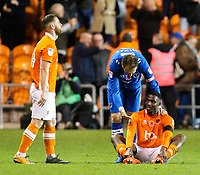 Portsmouth's Brett Pitman consoles Blackpool's Viv Solomon-Otabor after the final whistle <br /> <br /> Photographer Alex Dodd/CameraSport<br /> <br /> The EFL Sky Bet League One - Blackpool v Portsmouth - Saturday 11th November 2017 - Bloomfield Road - Blackpool<br /> <br /> World Copyright &copy; 2017 CameraSport. All rights reserved. 43 Linden Ave. Countesthorpe. Leicester. England. LE8 5PG - Tel: +44 (0) 116 277 4147 - admin@camerasport.com - www.camerasport.com