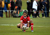 Magali Harvey prepares to take a conversion during the 2017 International Women's Rugby Series rugby match between Canada and Australia Wallaroos at Smallbone Park in Rotorua, New Zealand on Saturday, 17 June 2017. Photo: Dave Lintott / lintottphoto.co.nz