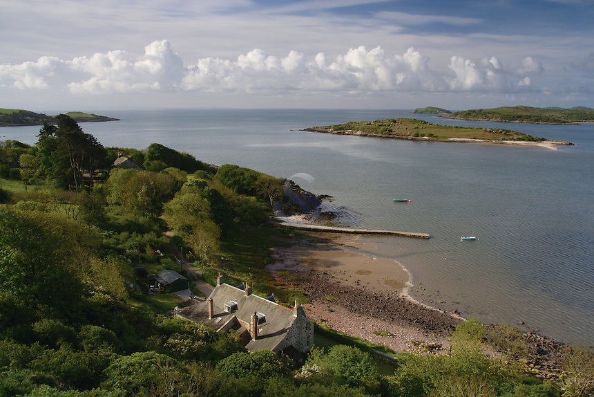 Rockcliffe, Rough Island, Castle Point and the Solway Firth from Mote of Mark, Rockcliffe, Dumfries and Galloway<br /> <br /> Copyright www.scottishhorizons.co.uk/Keith Fergus 2011 All Rights Reserved