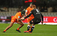 DURBAN, SOUTH AFRICA - JULY 14: Javier Diaz of the Jaguares during the Super Rugby match between Cell C Sharks and Jaguares at Jonsson Kings Park on July 14, 2018 in Durban, South Africa. Photo: Steve Haag / stevehaagsports.com