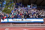Uppsala 2014-05-01 Fotboll Svenska Cupen IK Sirius - IF Elfsborg :  <br /> Sirius supportrar med en banderoll innan matchen<br /> (Foto: Kenta J&ouml;nsson) Nyckelord:  Svenska Cupen Cup Semifinal Semi Sirius IKS Elfsborg IFE supporter fans publik supporters