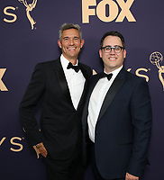 LOS ANGELES - SEPTEMBER 22: Joe Farrell and Mike Farah attend the 71st Primetime Emmy Awards at the Microsoft Theatre on September 22, 2019 in Los Angeles, California. (Photo by Brian To/Fox/PictureGroup)