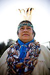 Winnemem chief and spiritual leader Caleen Sisk-Franco poses for a portrait at their village called Tuiimyali in Jones Valley, Calif. March 17, 2010.