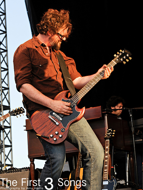 Patterson Hood of Drive-By Truckers performs during day one of the Dave Matthews Band Caravan at Lakeside on July 8, 2011 in Chicago, Illinois.