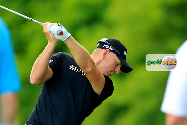 Matt Wallace (ENG) during the third round of the Lyoness Open powered by Organic+ played at Diamond Country Club, Atzenbrugg, Austria. 8-11 June 2017.<br /> 10/06/2017.<br /> Picture: Golffile | Phil Inglis<br /> <br /> <br /> All photo usage must carry mandatory copyright credit (&copy; Golffile | Phil Inglis)