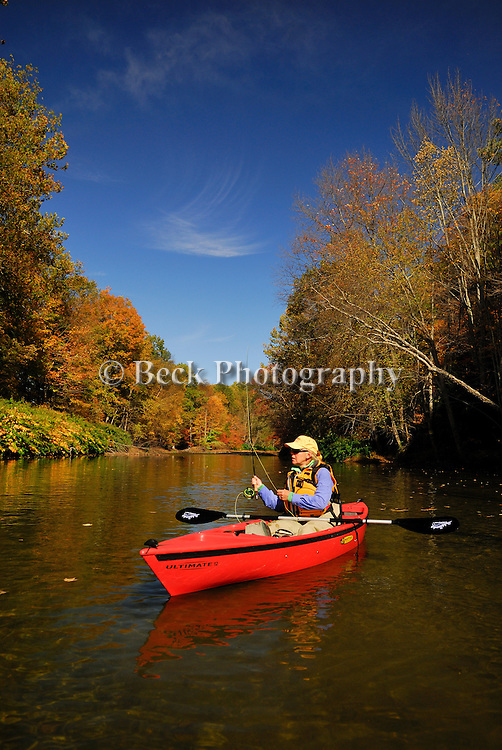 Cathy Beck Fall fly fishing