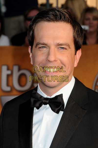 ED HELMS.16th Annual Screen Actors Guild Awards - Arrivals held at The Shrine Auditorium, Los Angeles, California, USA..January 23rd, 2009.SAG SAGs headshot portrait black white bow tie .CAP/ADM/BP.©Byron Purvis/Admedia/Capital Pictures