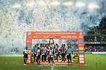 Fiji Team celebrates winning the Cup Final at the prize presentation as part of the HSBC Hong Kong Rugby Sevens 2018 on April 8, 2018 in Hong Kong, Hong Kong. Photo by Yu Chun Christopher Wong / Power Sport Images