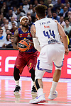 Real Madrid's Jeffery Taylor and FC Barcelona Lassa's Tyrese Rice duringTurkish Airlines Euroleague match between Real Madrid and FC Barcelona Lassa at Wizink Center in Madrid, Spain. March 22, 2017. (ALTERPHOTOS/BorjaB.Hojas)