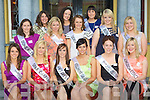 The 2010 Kerry entrants for the Rose of Tralee pictured outside the Imperial Hotel, Denny Street, Tralee, on Saturday night. Front l-r: Mairo?na Finucane (Lartigue Theatre Company, Listowel), Grace Healy (Spar Oakpark, Tralee), Ellen Griffin (Aine's Wine bar & Cafe, Tralee), Jamie Bowler (Kelliher's Garage, Tralee), Donna Doonan (Our Lady of Lourdes Care Facility, Killarney) and Veronica Hunt (Kingdom Coaches, Tralee). Middle l-r: Alison McEnery (Donie McEnery Electrical, Tralee), Vicki Fitzpatrick (Fitzpatrick's Market House, Cahersiveen), Grace Comerford (Denise's Hair Salon, Tralee), Tracy Barrett (Bon Secours, Tralee) and Leona Maloney (Kilcummin GAA). Back l-r: Mary McQuinn (The Blasket, Tralee), Caroline Kearney (CH Chemist, Tralee) and Tara McCoy (Ulster Bank, Tralee).