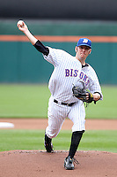 Buffalo Bisons starting pitcher Josh Stinson #49 delivers a pitch during a game against the Charlotte Knights at Dunn Tire Park on May 22, 2011 in Buffalo, New York.  Buffalo defeated Charlotte by the score of 7-5.  Photo By Mike Janes/Four Seam Images
